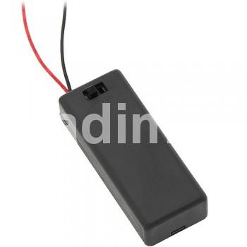 Държач за батерии 2 х ААА с ключе