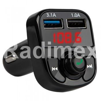 FM трансмитер BLOW с Bluetooth и зарядно T-01