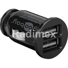 Адаптер USB, 12V - 2x5V/1600mA