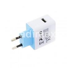 Адаптер USB 220V-5V/2.1AW