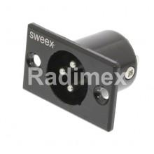Букса XLR-мъжка-за панел SWEEX