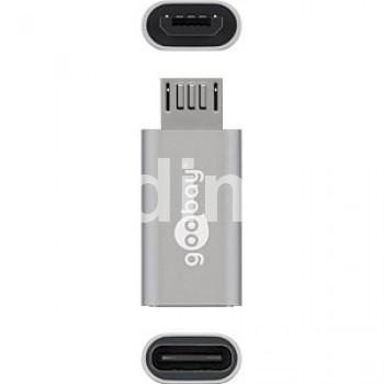 Преходник USB TYPE-C,Ж - USB Micro B,М