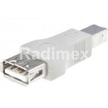 Преходник USB A,Ж-USB B,M