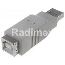Преходник USB A,М-USB B,Ж