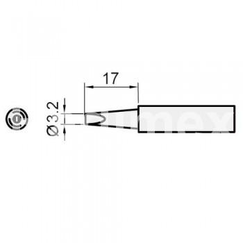 Човка за поялник SI216N-3.2D