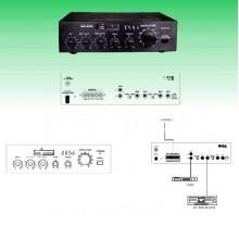 Усилвател 100V SM265 (USB, SD)