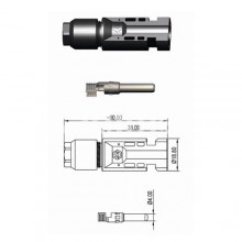 Солар конектор мъжки SMC4 M
