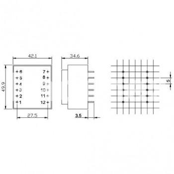 Трансформатор BUL 12V/0.84A