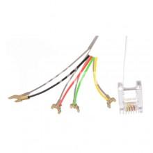 Телефонен кабел с кабелни обувки-7,50м
