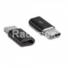 Преходник USB TUPE-C,М - USB Micro B,Ж