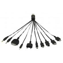 USB кабел за зареждане с различни накрайници