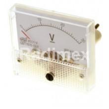 Аналогов панелен волтметър V1067, 0-30 V/DC