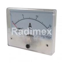 Аналогов панелен амперметър R034, 0-15 A/DC
