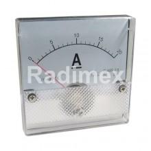 Аналогов панелен амперметър R053, 0-20 A/DC