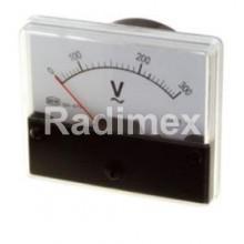 Аналогов панелен волтметър V1060, 0-300 V/AC