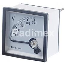 Аналогов панелен волтметър VSD96, 0-500 V/AC