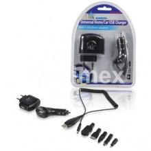 Адаптер USB404, 220V - 5V/500mA + 12/24V - 5V/500mA