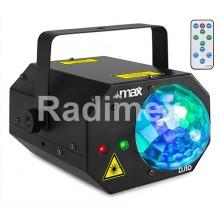 Лазер - зелен и червен + RGB Leds