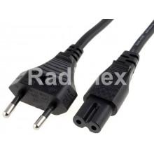 Захранващ кабел за касетофон 2*0.75