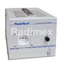 Галванично разделен автотрансформатор 500W, PEAKTECH 2240