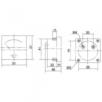 Аналогов панелен амперметър R024, 0-30 A/DC