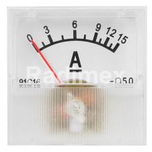 Аналогов панелен амперметър R034B, 0-15 A/DC