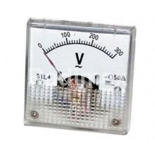 Аналогов панелен волтметър R071, 0-300 V/AC